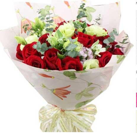 守住爱情到永远/16枝昆明顶级红玫瑰