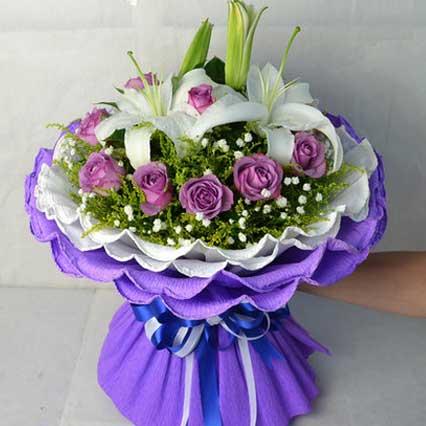 紫色情怀/11枝紫玫瑰