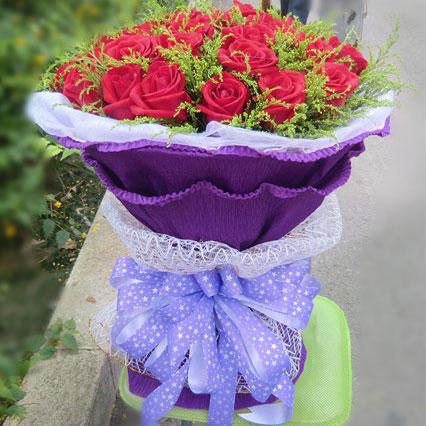 今生手相牵/99枝香槟玫瑰:爱妻/27枝红玫瑰