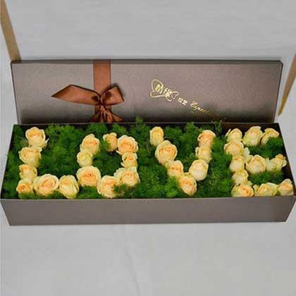 66枝香槟玫瑰/爱的温馨:最美的人是你/33枝香槟玫瑰.