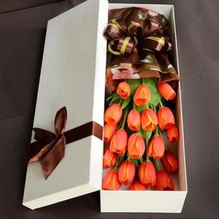 19枝橙色郁金香/永恒