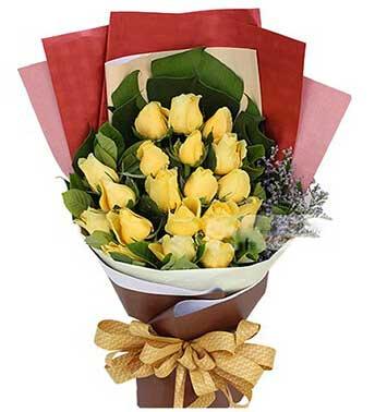 愿我最爱的人幸福/11枝红色玫瑰礼盒:幸福的人/黄玫瑰19枝