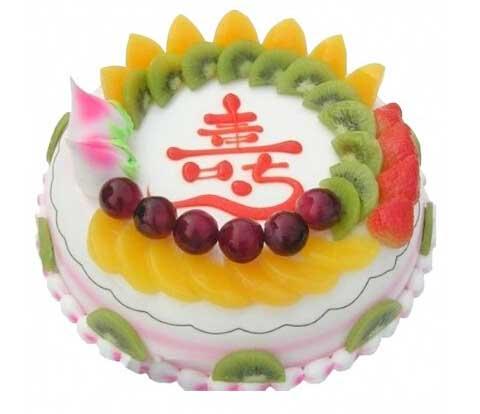 相思比梦长/8寸圆形水果鲜奶蛋糕:吉祥的光芒/水果蛋糕