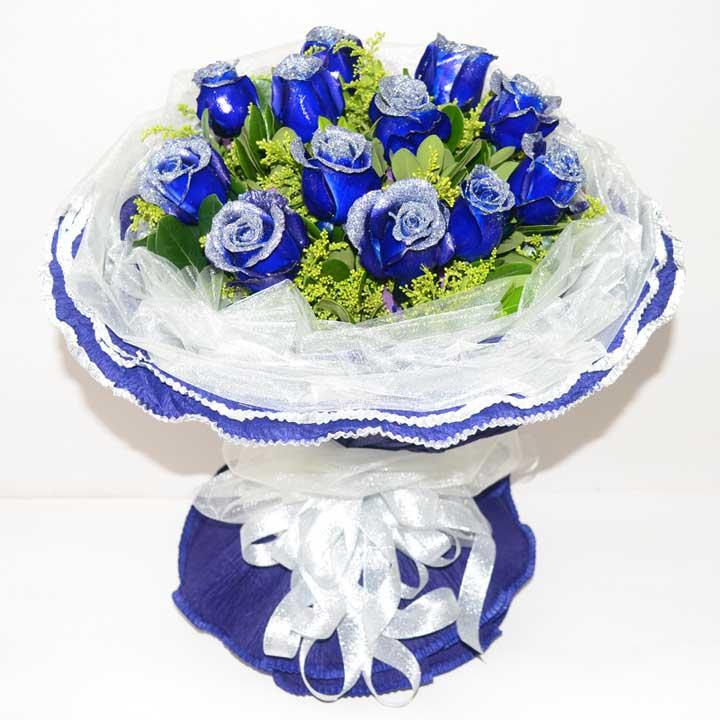 生生世世/11枝蓝色玫瑰