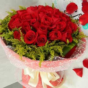 香槟玫瑰99枝/把��暖暖地融化:爱到永久/29枝红玫瑰