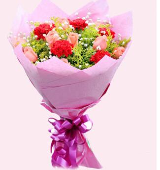 生日快乐,天天开心:10枝红色康乃馨/一切都好