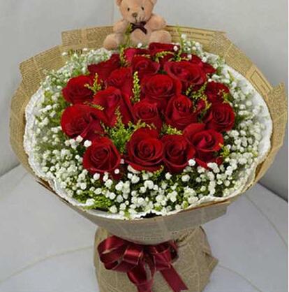 时刻牵挂着你/29枝红色玫瑰:炽热的爱/19枝红色玫瑰