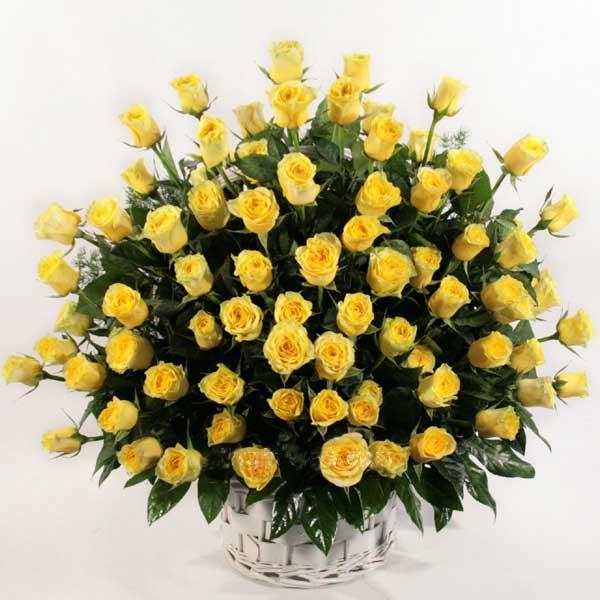 99枝黄玫瑰/真情与信心