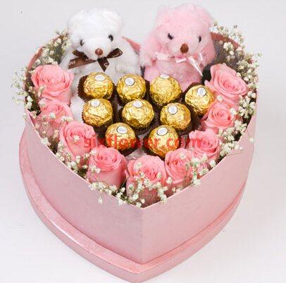 刻骨铭心/9枝粉色玫瑰礼盒