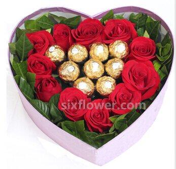 心与心的沟通/11枝礼盒玫瑰