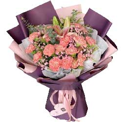 12枝白色玫瑰/为您守候:19枝粉玫瑰/属于我