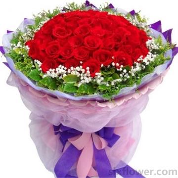 拥有你/33枝蓝色玫瑰礼盒:恒久挚爱/66枝红玫瑰