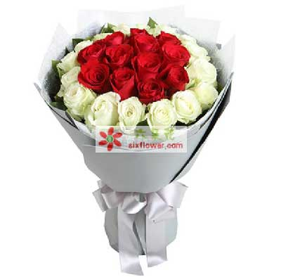 每天都想你/66枝粉色玫瑰:最美的你/29枝玫瑰