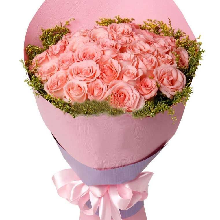 不离不弃好好爱你/33枝粉玫瑰