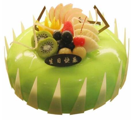 美美的回忆/鲜奶蛋糕:10寸水果蛋糕/时令水果围成一圈