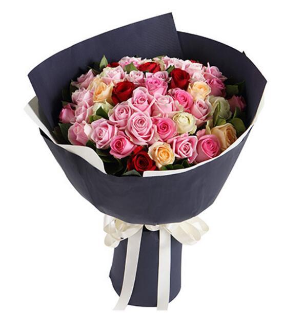 你就是我的恋人/50枝各色玫瑰