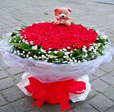 一生美丽/33枝玫瑰巨型花束:99枝红玫瑰/给你我所有的爱