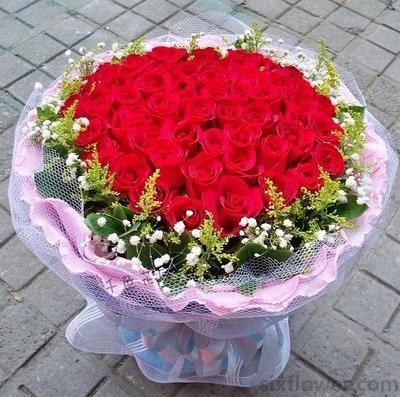 美丽爱情故事/19枝玫瑰礼盒:情人节快乐/57枝红玫瑰
