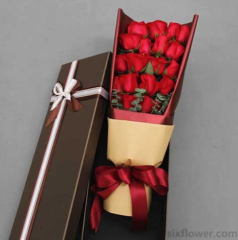 香槟玫瑰99枝/把��暖暖地融化:朝朝暮暮/19枝红玫瑰礼盒