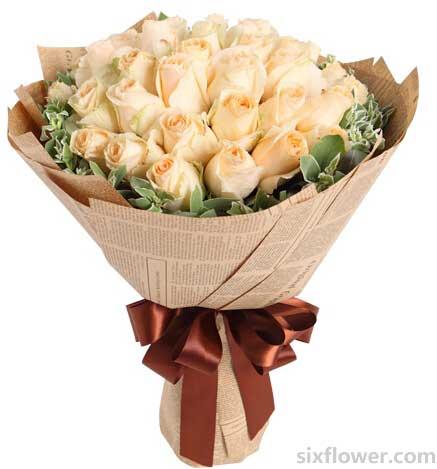 生命中的相遇/33枝戴安娜:我们的未来是最美好的/香槟玫瑰33枝
