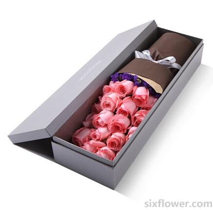 粉玫瑰19枝/心里暖暖的