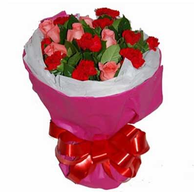 99枝康乃馨/母爱:阳光般的温暖/16枝康乃馨玫瑰