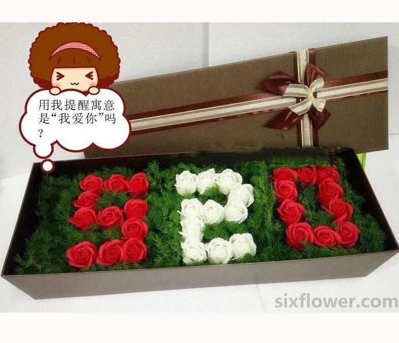 给你一个幸福的人生/20枝红色玫瑰礼盒:33枝玫瑰礼盒/向全世界广播对你的爱
