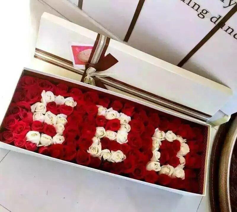 愿我最爱的人幸福/11枝红色玫瑰礼盒:让生活甜起来/99枝盒装玫瑰