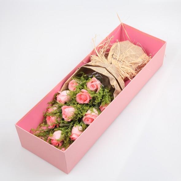 我的爱人/11枝粉玫瑰礼盒
