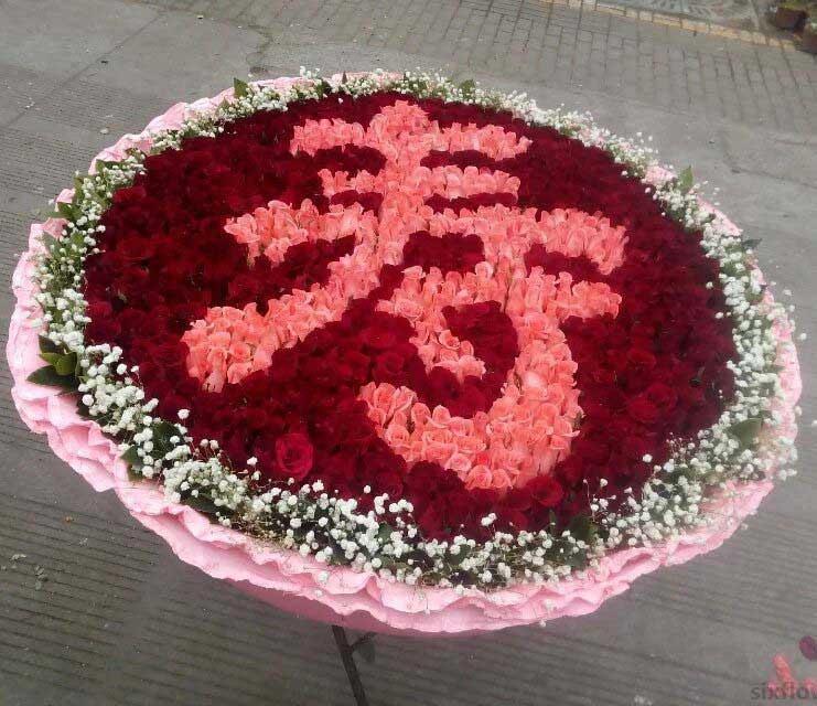 999枝祝寿玫瑰