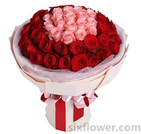 此情惟你独钟/16枝玫瑰+百合+绣球花:50枝玫瑰/一剪梅