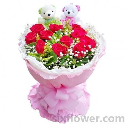 纯洁的爱/11枝白玫瑰:天涯海角/11枝红玫瑰