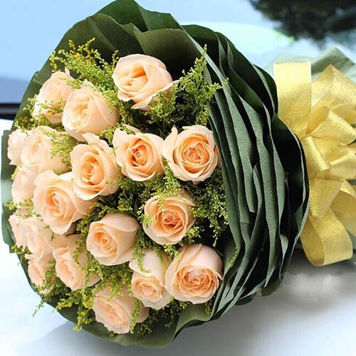 爱你永不变/29枝玫瑰礼盒:爱要小清新/19枝香槟玫瑰