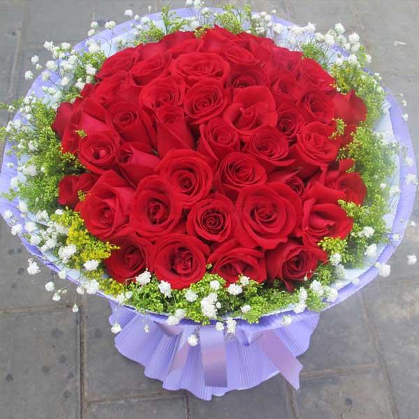 12枝白色玫瑰/为您守候:爱在心头/33枝红玫瑰