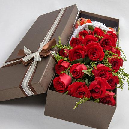 11枝玫瑰/我只在乎你:只要有你/21枝红玫瑰礼盒