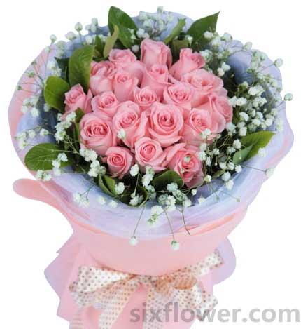 相爱时光/19枝粉玫瑰