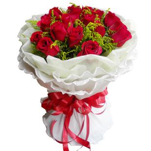 有你人生不平淡/20枝香槟玫瑰:致美丽的你/18枝红玫瑰