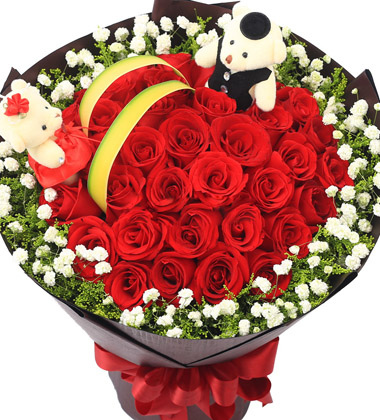 花的海洋/33枝红玫瑰