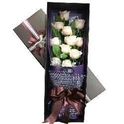 温婉如诗/16枝玫瑰:遇到你很幸运/11枝盒装香槟