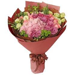 爱的秘密/20枝玫瑰绣球花