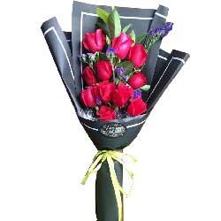 暖暖的祝福心情要好/11枝红色玫瑰