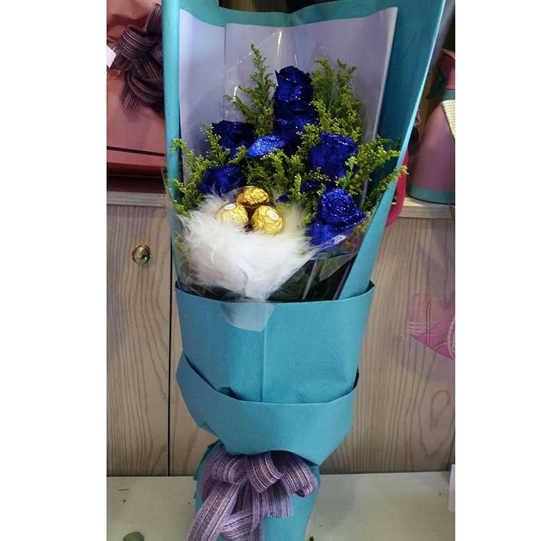 6枝蓝玫瑰/清纯的爱