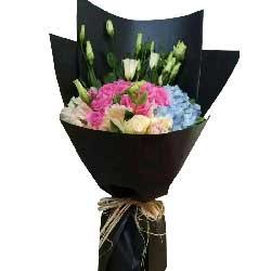 爱你是从未有过的感觉/20枝玫瑰绣球花