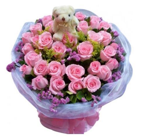 倾城的思念/33枝粉玫瑰