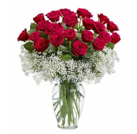 坚定而又执着的爱/19枝香槟玫瑰:开心快乐/21枝瓶插花