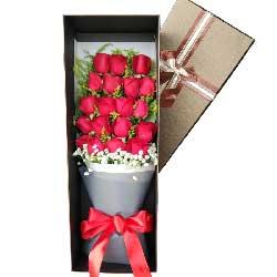 永生永世的等着你/19枝红色玫瑰礼盒