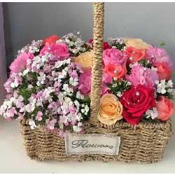 特别的问候/38枝玫瑰:难忘的日子/19枝玫瑰康乃馨花篮
