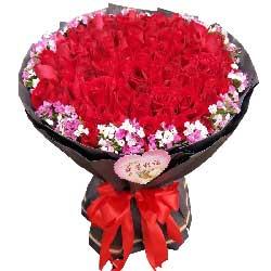 心心相印的爱情/19枝粉色玫瑰:追求你不松懈/66枝红色玫瑰