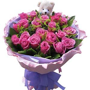 终于找到了你/21枝紫玫瑰