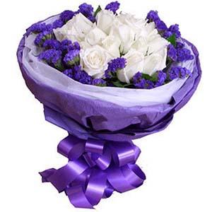 有你人生不平淡/20枝香槟玫瑰:一切都是你/11枝白玫瑰